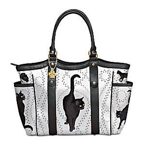 """Hans Rüttimann """"On Quiet Paws"""" Tote Bag With Paw Charm"""
