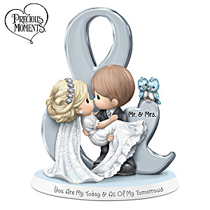 Precious Moments Bride And Groom Bisque Porcelain Figurine