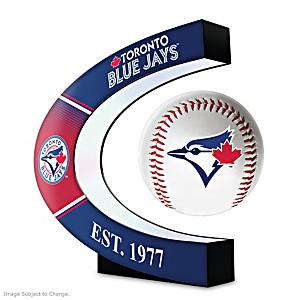 Toronto Blue Jays Levitating Baseball Lights Up And Spins