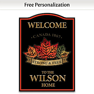 Patriotic Welcome Sign Personalized With Family Name