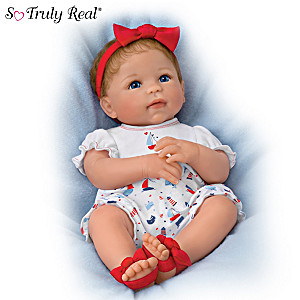 """""""Little Saylor"""" Lifelike Baby Doll With Magnetic Pacifier"""