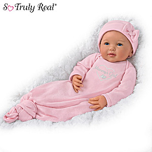 """Ping Lau """"Mommy's Girl"""" Baby Doll With Magnetic Pacifier"""