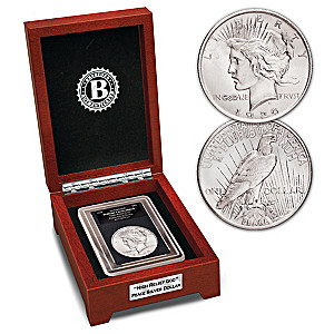 """The Only """"High Relief God"""" Silver Dollar With Display Box"""