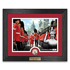Queen Elizabeth II Canada Day Framed Photo Mint