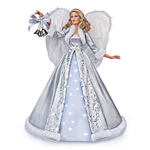 """""""Carol Of The Bells"""" Poseable Angel With Lights And Music"""