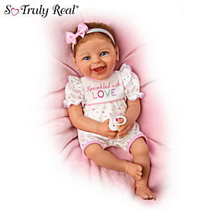 """""""Sprinkled With Love"""" Lifelike Baby Doll By Ina Volprich"""