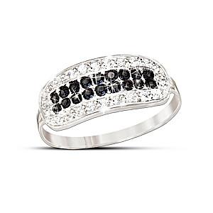 The Rare Black Diamond And White Diamond Ring