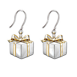 """""""Gift Of Love"""" Sterling Silver And Diamond Earrings"""