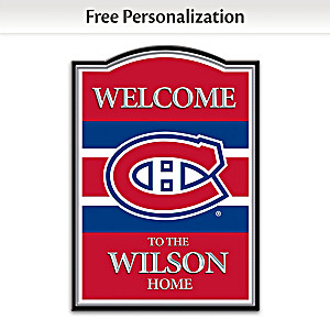 Canadiens® Welcome Sign With Your Name: Choose Language