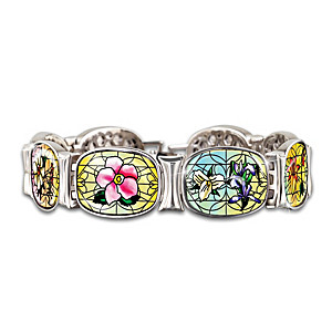 Canadian Provincial Bracelet Features Stained Glass Look