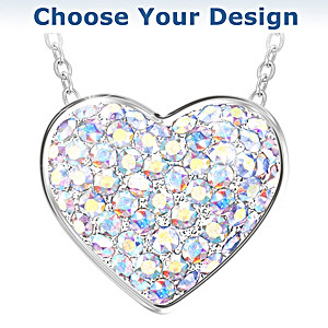 Brilliant Facets Of Love Swarovski Crystal Pendant Necklace