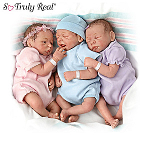 """""""Blessings Times 3"""" Triplet Baby Doll Collection"""