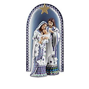 "The ""Silent Night"" Polish Stoneware-Style Nativity"