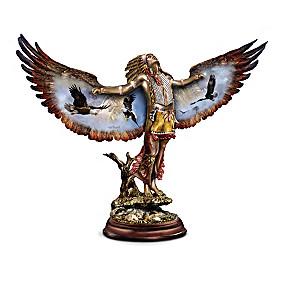 Ted Blaylock Cold-Cast Bronze Eagle Spirit Seeker Sculptures