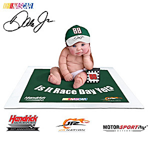 """Officially Licensed """"Dale Jr. #1 Fan"""" Baby Doll Collection"""