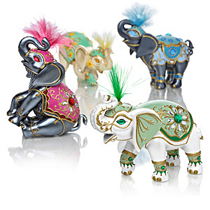 """""""Elephants Of Good Fortune"""" Figurine Collection"""