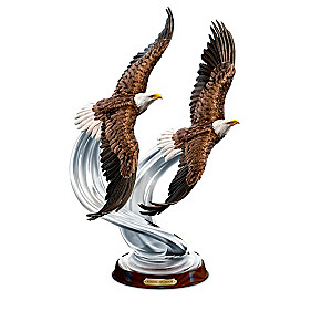 """""""Majesty In Flight"""" American Bald Eagle Sculpture Collection"""