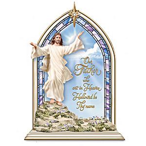 """""""Light Of The World"""" Illuminated Church Window Sculptures"""