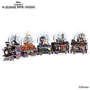 The Nightmare Before Christmas Musical Glitter Globe Train
