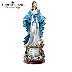 Thomas Kinkade Blessed Mary Illuminated Sculpture Collection