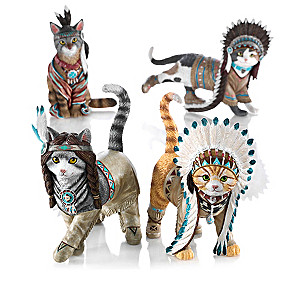 """""""Feathers 'N Fur"""" Kittens Figurine Collection"""