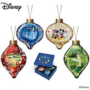 Disney Dazzling Dreams Illuminated Glass Ornament Collection