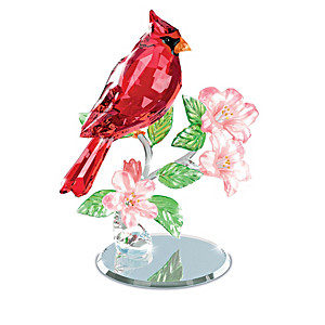"""""""Nature's Sparkling Songbirds"""" Crystal Sculpture Collection"""