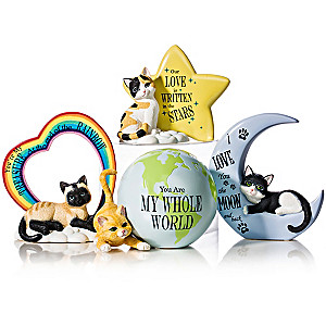 """Blake Jensen """"Our Love Is Out Of This World"""" Cat Figurines"""