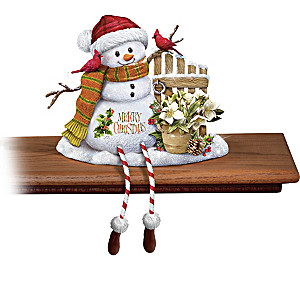 Marjolein Bastin Snowman Sculpture Shelf Sitters Collection