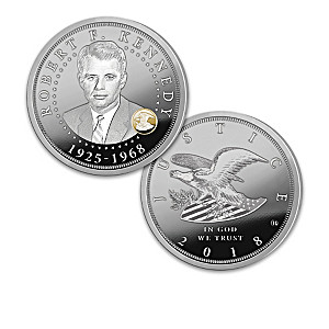 Robert F. Kennedy Proof Coin Collection With Display Box