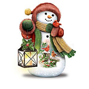 Dona Gelsinger Illuminated Snowman Figurine Collection