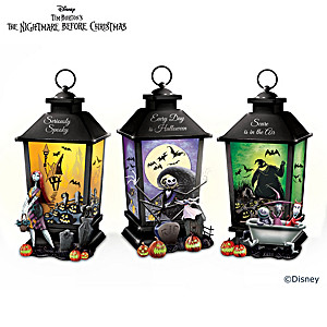 The Nightmare Before Christmas Sculpted Lantern Collection