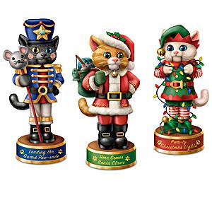 """A Meowwy Little Christmas"" Nutcracker Sculpture Collection"