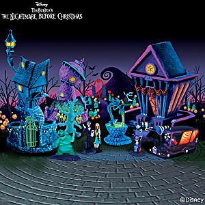 The Nightmare Before Christmas Black Light Village