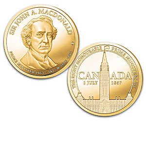 Canada's Prime Ministers Proof Collection Plated In 24K Gold