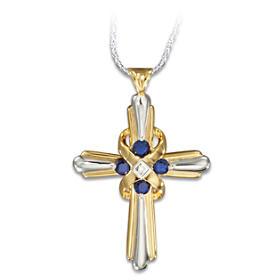 Heaven's Eternal Promise Cross Pendant