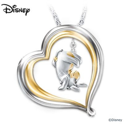 Winnie The Pooh Eeyore Engraved Pendant Necklace by