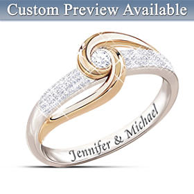 Lover's Knot Diamond Ring