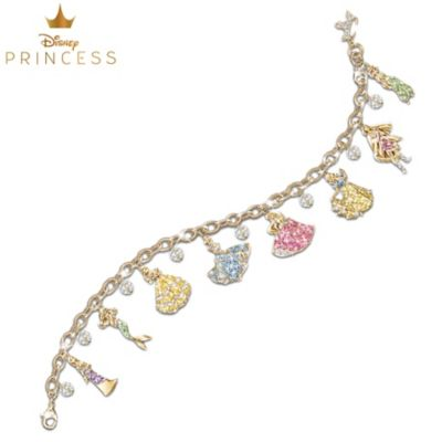 Disney Princess Charm Bracelet With Swarovski Crystals