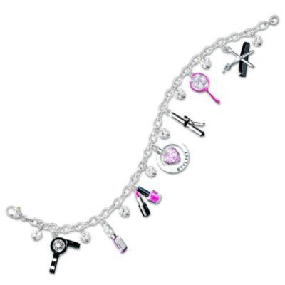 Hair Stylist's Swarovski® Crystal Charm Bracelet by