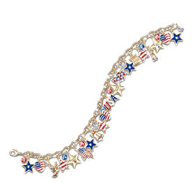 Ultimate Patriotic Charm Bracelet