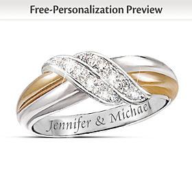 Diamond Embrace Personalized Ring