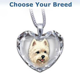 Close To My Heart Crystal Dog Pendant Necklace