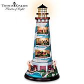 Thomas Kinkade's Tower Of Light Lighthouse Sculpture