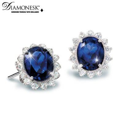 Kate Middleton Engagement Ring-Inspired Stud Earrings by
