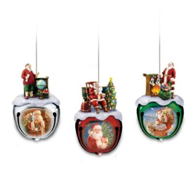 Dona Gelsinger's Santa Ornaments Set One: Set Of Three by