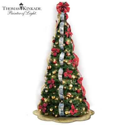 First-Ever Thomas Kinkade 6' Pre-Lit Pull-Up Christmas Tree - Thomas Kinkade Pre-Lit Pull-Up Christmas Tree: Wondrous Winter