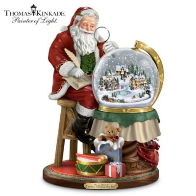 Illuminated Thomas Kinkade Christmas Snowglobe by