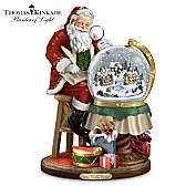 Thomas Kinkade Santa's Checking His List Sculpture