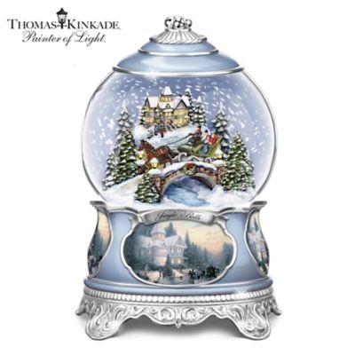 thomas kinkade jingle bells christmas musical snowglobe - Christmas Musical Snow Globes